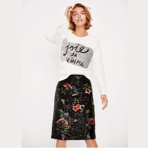 Anthropologie Maeve Garden Glitz Skirt sequin NWT